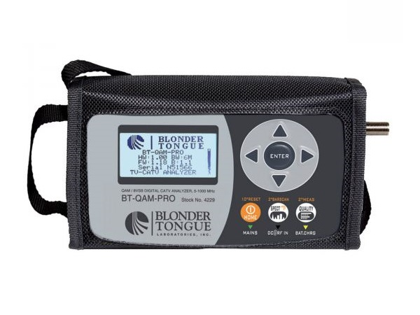 BT-QAM-PRO Signal Level Meter/QAM/8VSB/NTSC Measurements 5-1000 MHz  5VDC Powering (Charging Cable Supplied) by Blonder Tongue