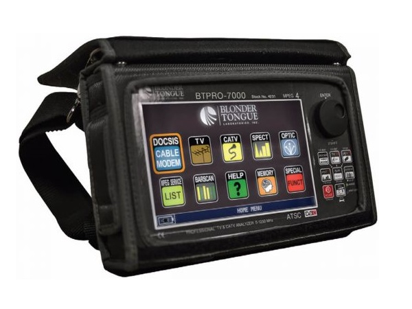 BTPRO-7000 HD Tablet/Touch Analyzer/QAM/8VSB/NTSC Measurements (5-1250 MHz) by Blonder Tongue