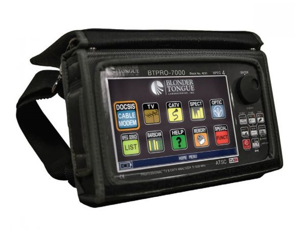 BTPRO-7000 w/CM8 FO Opt HD Tablet/Touch Analyzer/QAM/8VSB/NTSC (5-1250 MHz 8x4 Modem/Fiber Optic Options) by Blonder Tongue