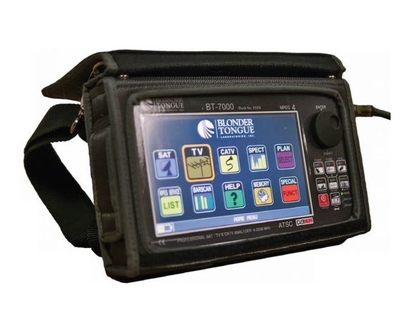 BTPRO-7000S QAM/8VSB/NTSC/SAT Measurements/4-2250 MHz HD Tablet/Touch Analyzer by Blonder Tongue