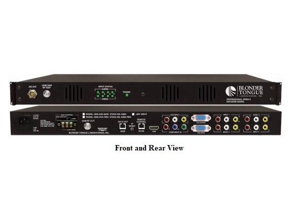 HDE-HVC-PRO 1xHDMI/1xVGA/1xYCbCr/1xComposite Professional Series MPEG-2 HD/SD Encoder by Blonder Tongue