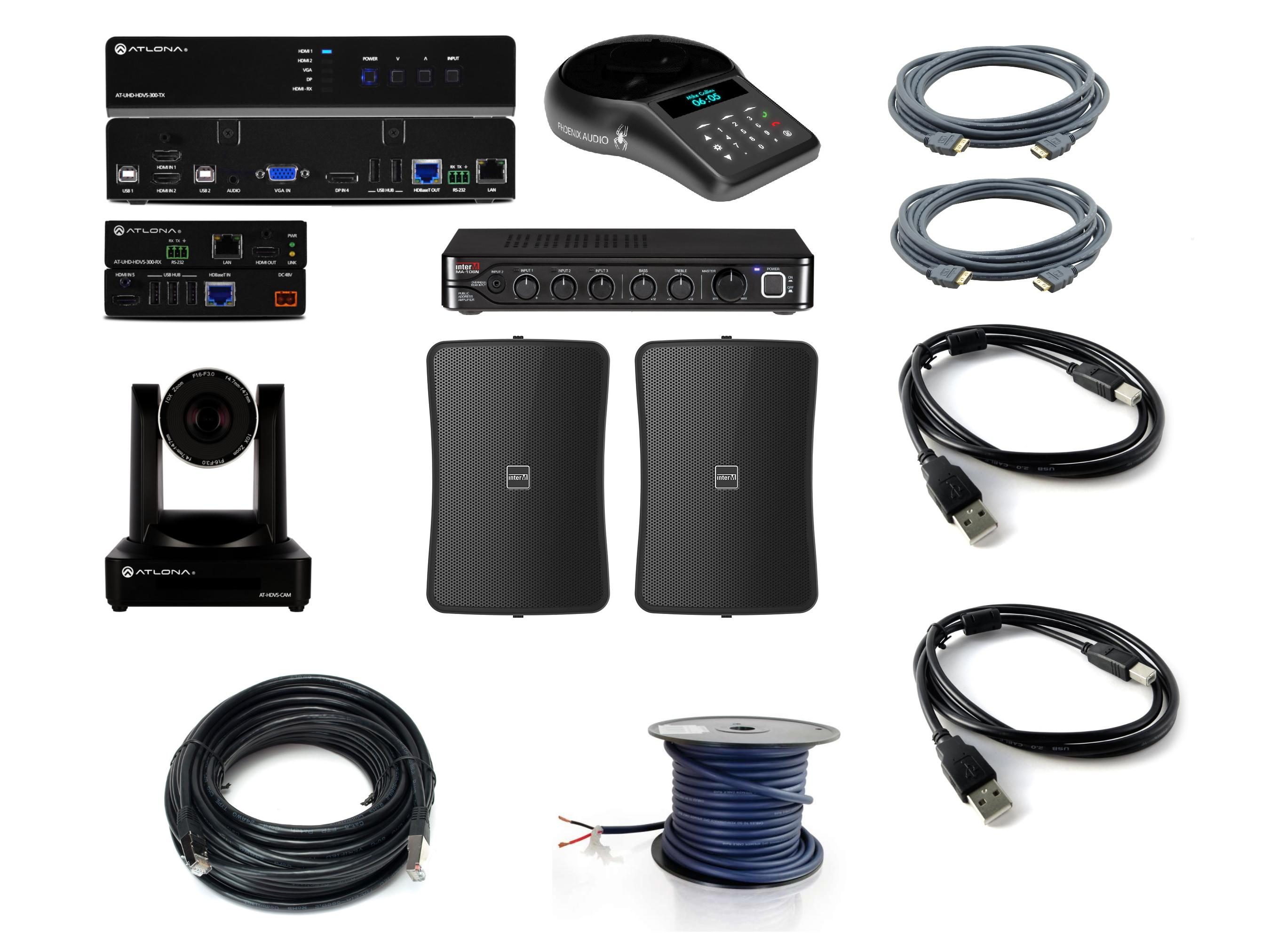 4K All-in-One All-in-One 4K Video Conference Room Solution (Speaker/Switcher/Mic/Cables) by BZB