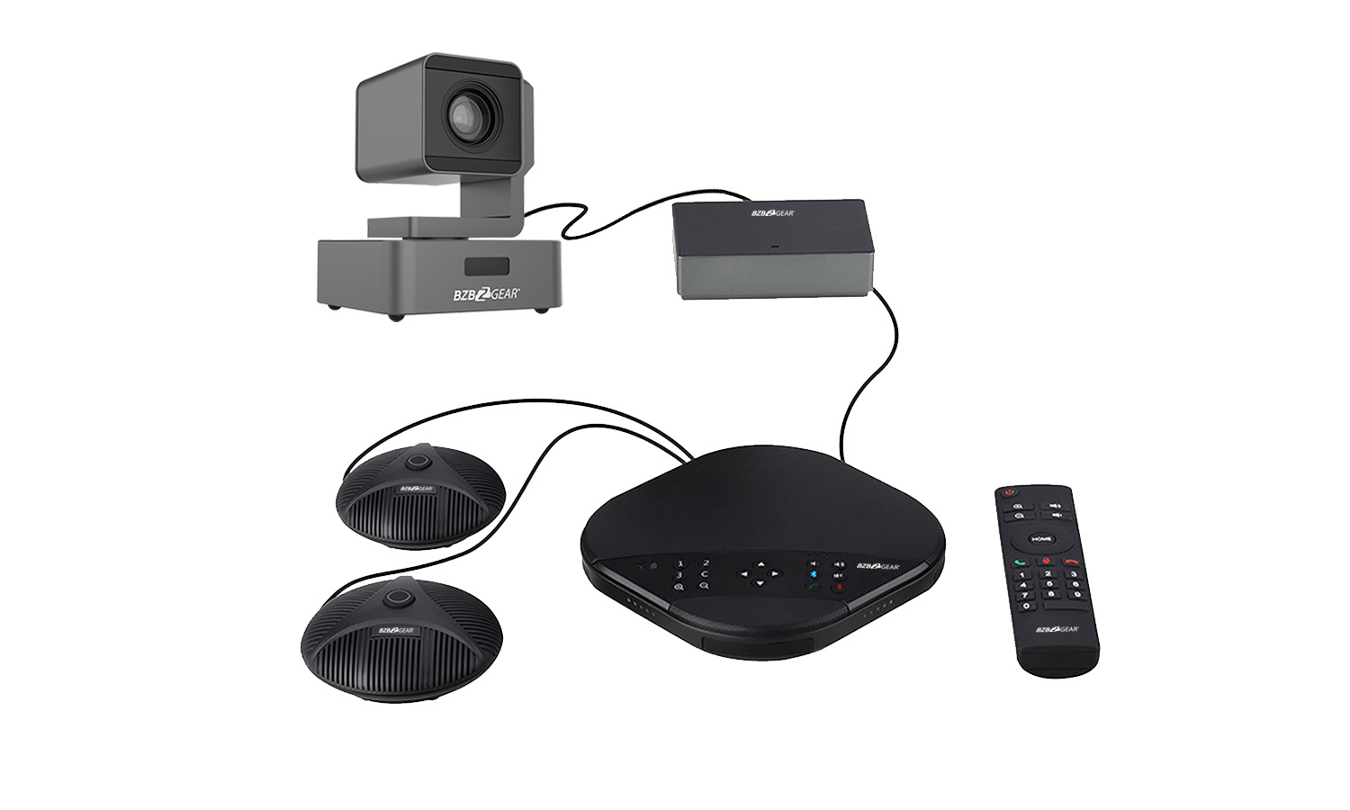 BG-AIOE-KIT Conferencing Kit with PTZ Camera Speakerphone and 2 Additional Mics by BZBGEAR