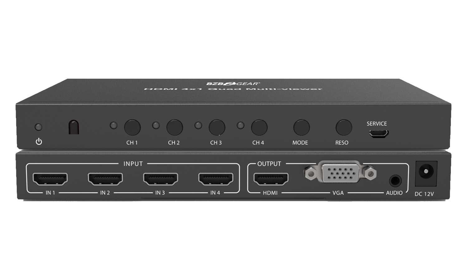 BG-HD-MNA-4X1 HDMI 4X1 Quad MultiViewer by BZBGEAR