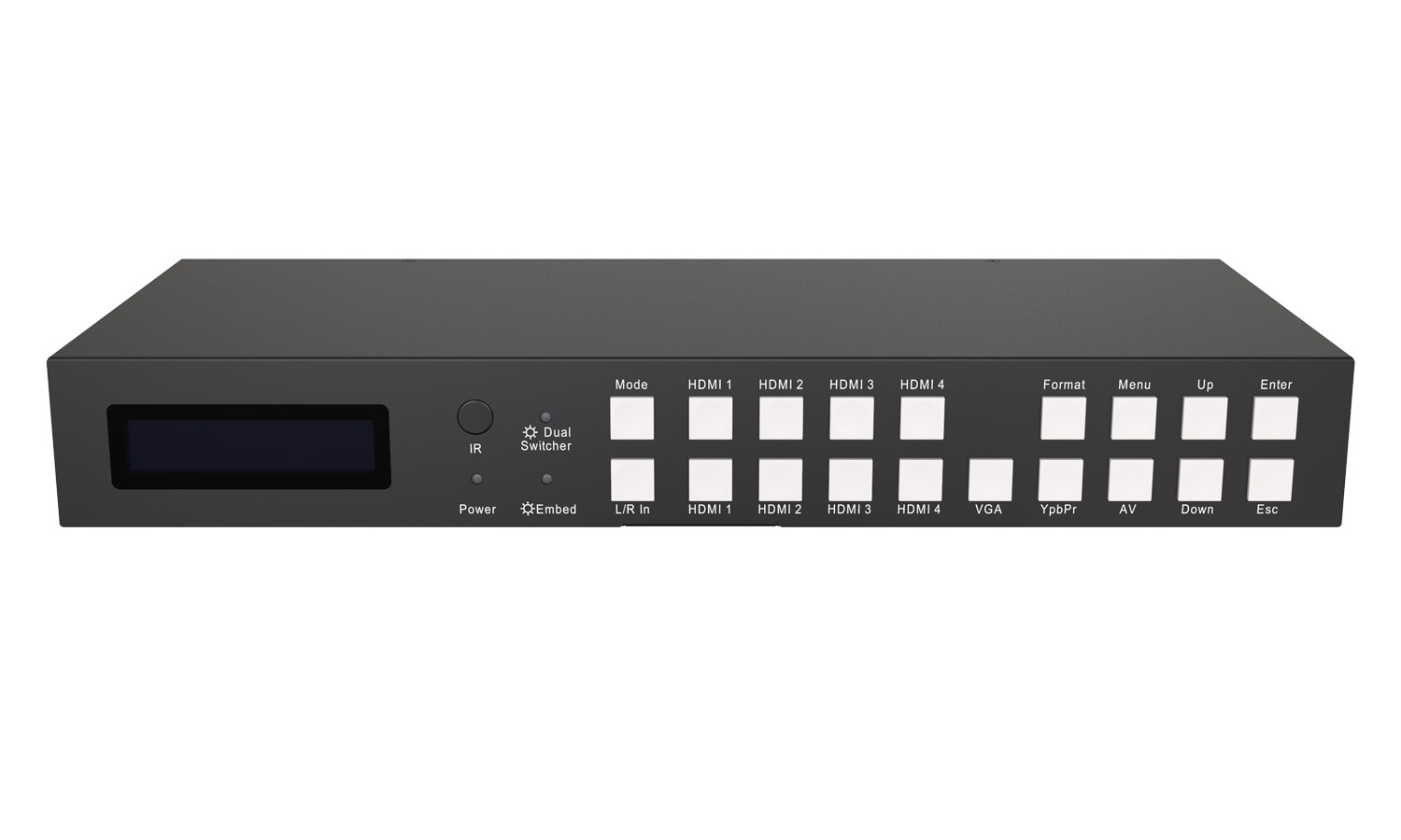BG-PSC7X2 7x2 4K Presentation Switcher Scaler w/HDMI/VGA/Component/Composite Video