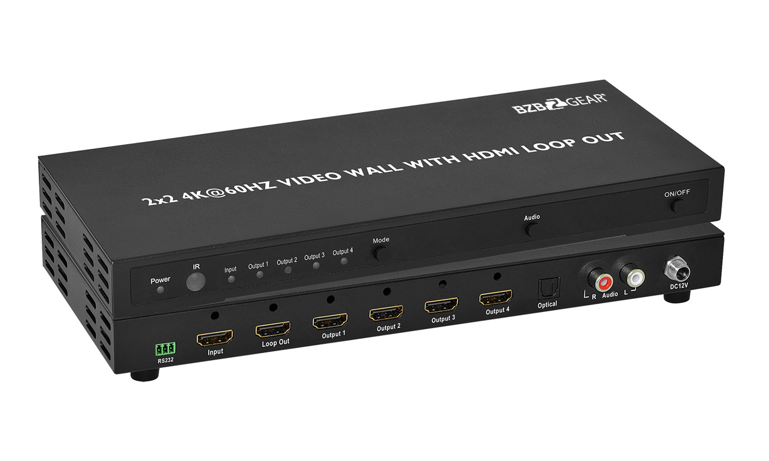 BG-UHD-VW2X2 2x2 4K 60Hz HDMI Video Wall controller with Audio by BZBGEAR