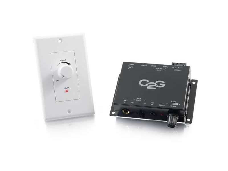 40914 30W Audio Amplifier with WP Volume CTRL by C2G