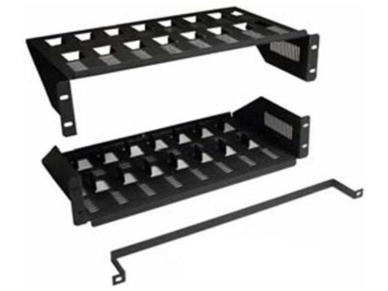 CT-8PK Multi Device Rackmount Shelf/Slotted for 8 Devices by Cabletronix