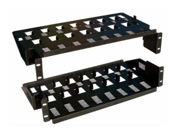 CT-8PK-D12 Multi Device Rackmount Shelf/For 8 DIRECTV D12 Units by Cabletronix