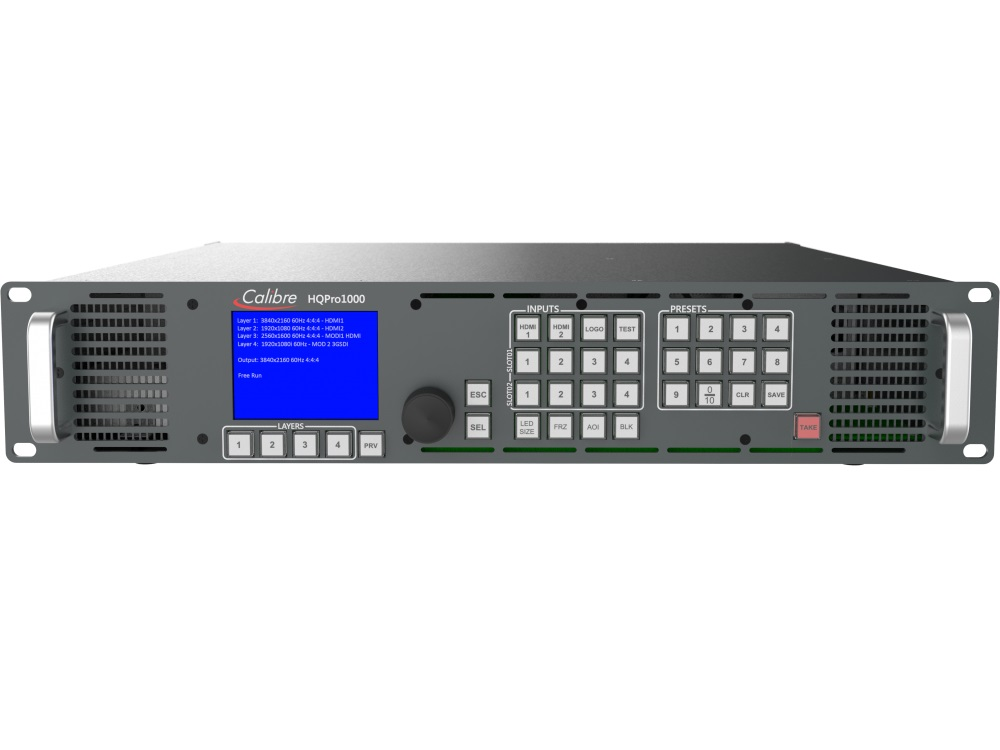 HQPro1000 2 x 4K HDMI Inputs/1x4K HDMI 2K Confidence Monitor Outputs Seamless Switcher by Calibre