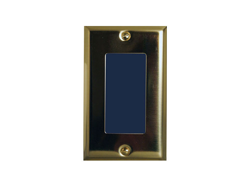 6204-222 Single Gang Box Hi-Res WDR Color Camera with Cover/Polished Brass Finish by Channel Vision