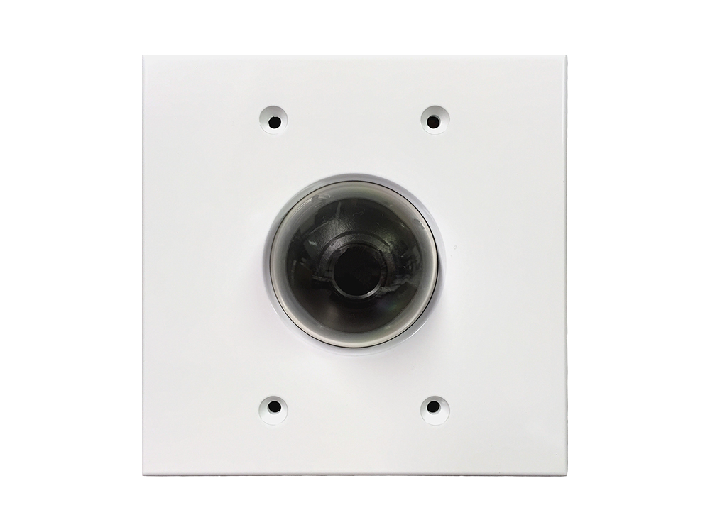 6525-W 1080P 2 Megapixel Vandal Proof Flush Mount IP Camera/White Housing by Channel Vision
