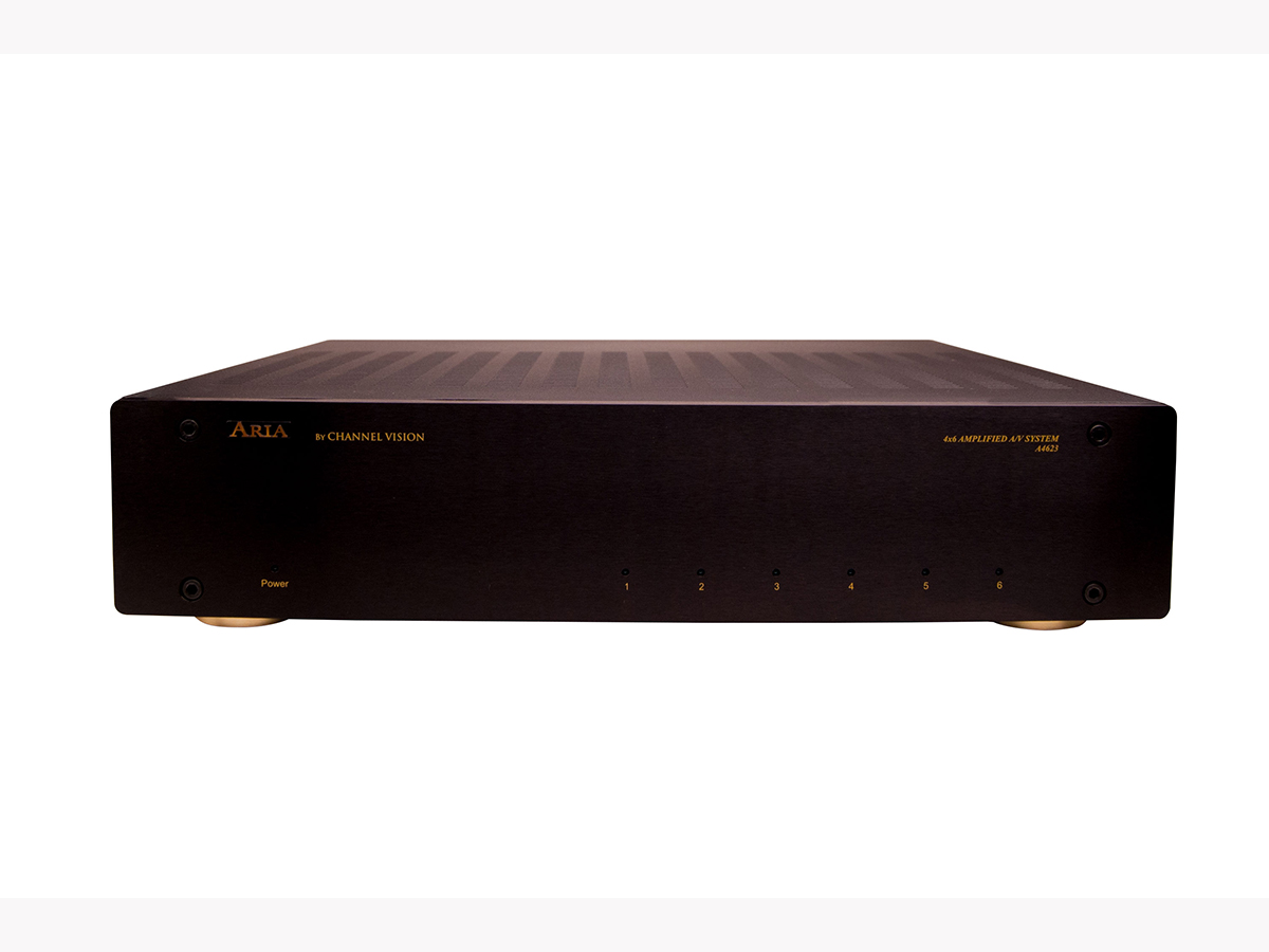A4623R 4-Input 6-Zone Rack Mount Amplified AV System with IR and RS-232 Serial Control by Channel Vision