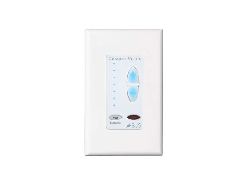 AB-134W Multi-Source Amplified Key Pad for A-BUS Systems (White) by Channel Vision