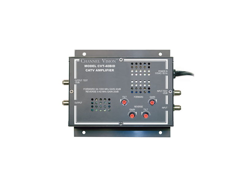 CVT-40BID 5-1000MHz 40dBmV High Gain RF Amplifier by Channel Vision