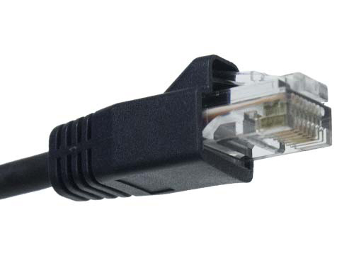 P-C6AF-RJ-BLK-25 Cat 6a Shielded RJ45 Male to Male Black Jacket Plenum Cable - 25ft by Covid