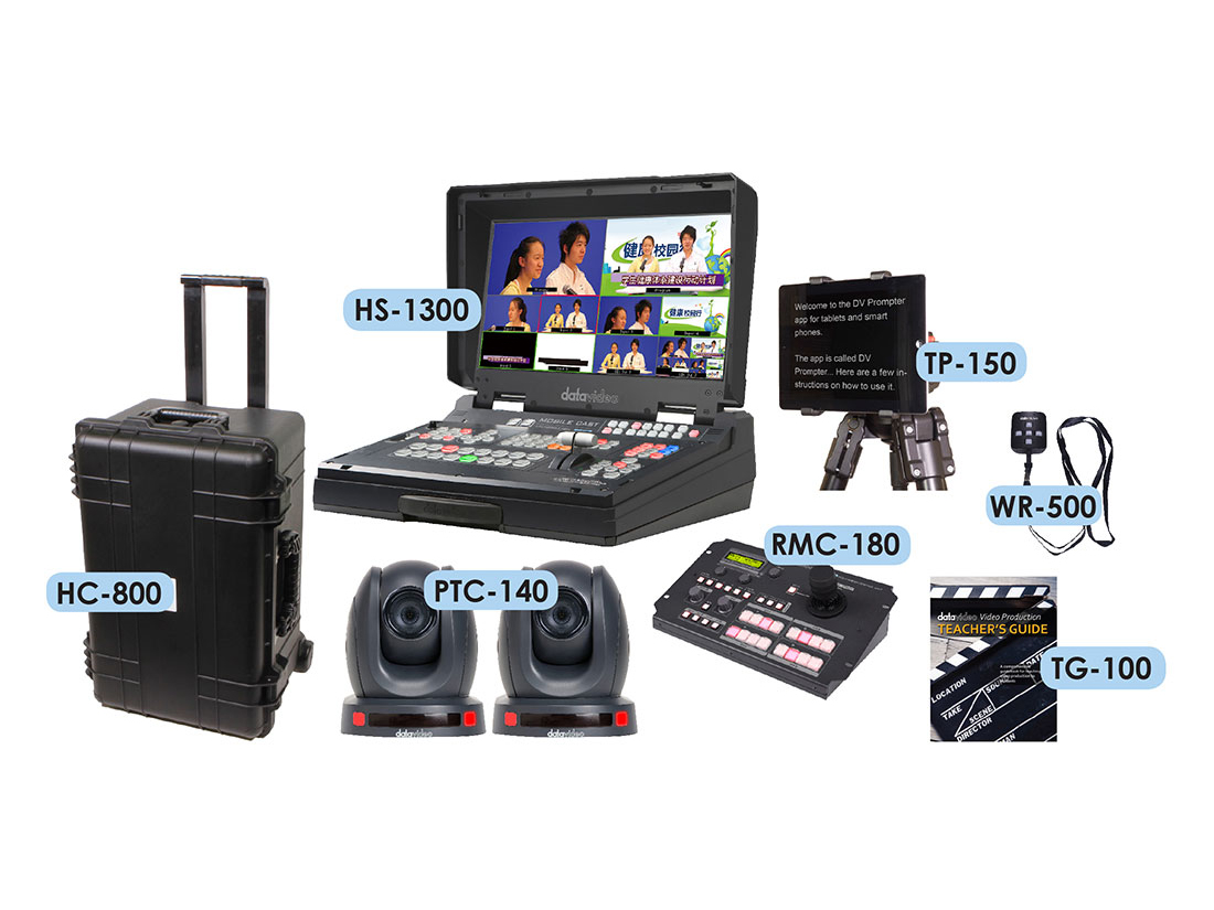 EPB-1340 Educator's production bundle with PTC-140 cameras by Datavideo