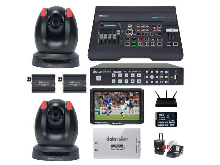 EZ STREAMING PACKAGE D1 EZ Stream Package D 2 x PTZ Camera Stream HDBaseT Workflow by Datavideo
