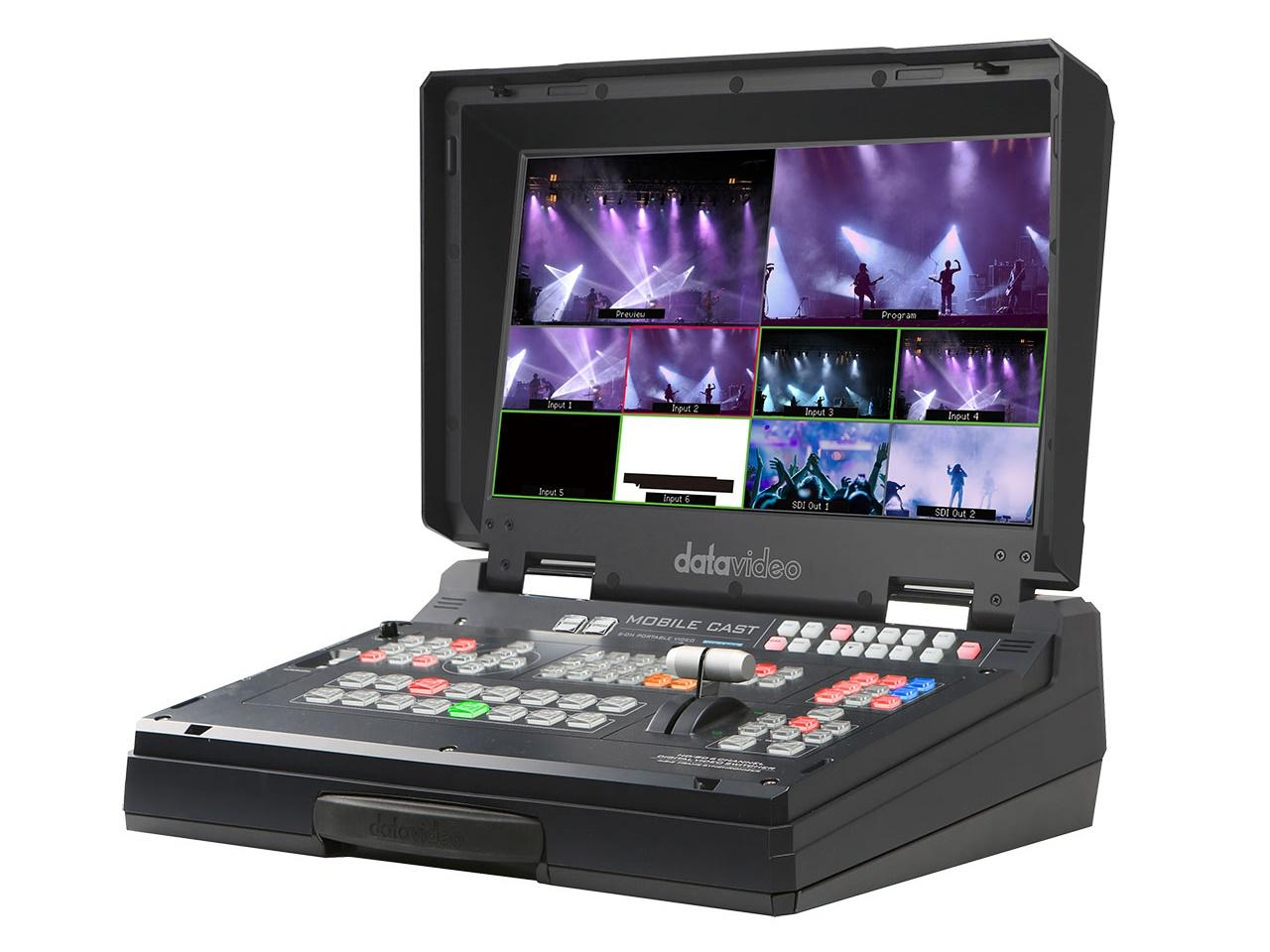 HS-1300 6-Channel HD Portable Video Streaming Studio by Datavideo