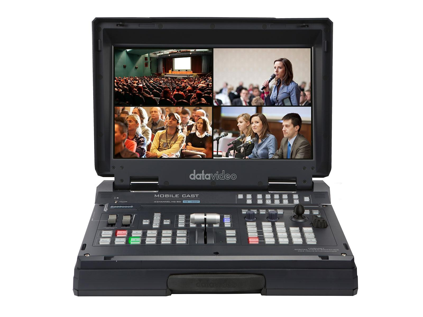 HS-1500T 4-Channel HDBaseT/HDMI Portable Production Switcher by Datavideo