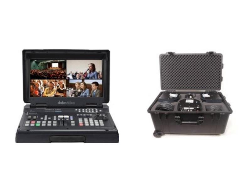 HS-1500T-3C140TC HD/SD HDBaseT Portable Video Streaming Studio Kit with HC-800 Case by Datavideo