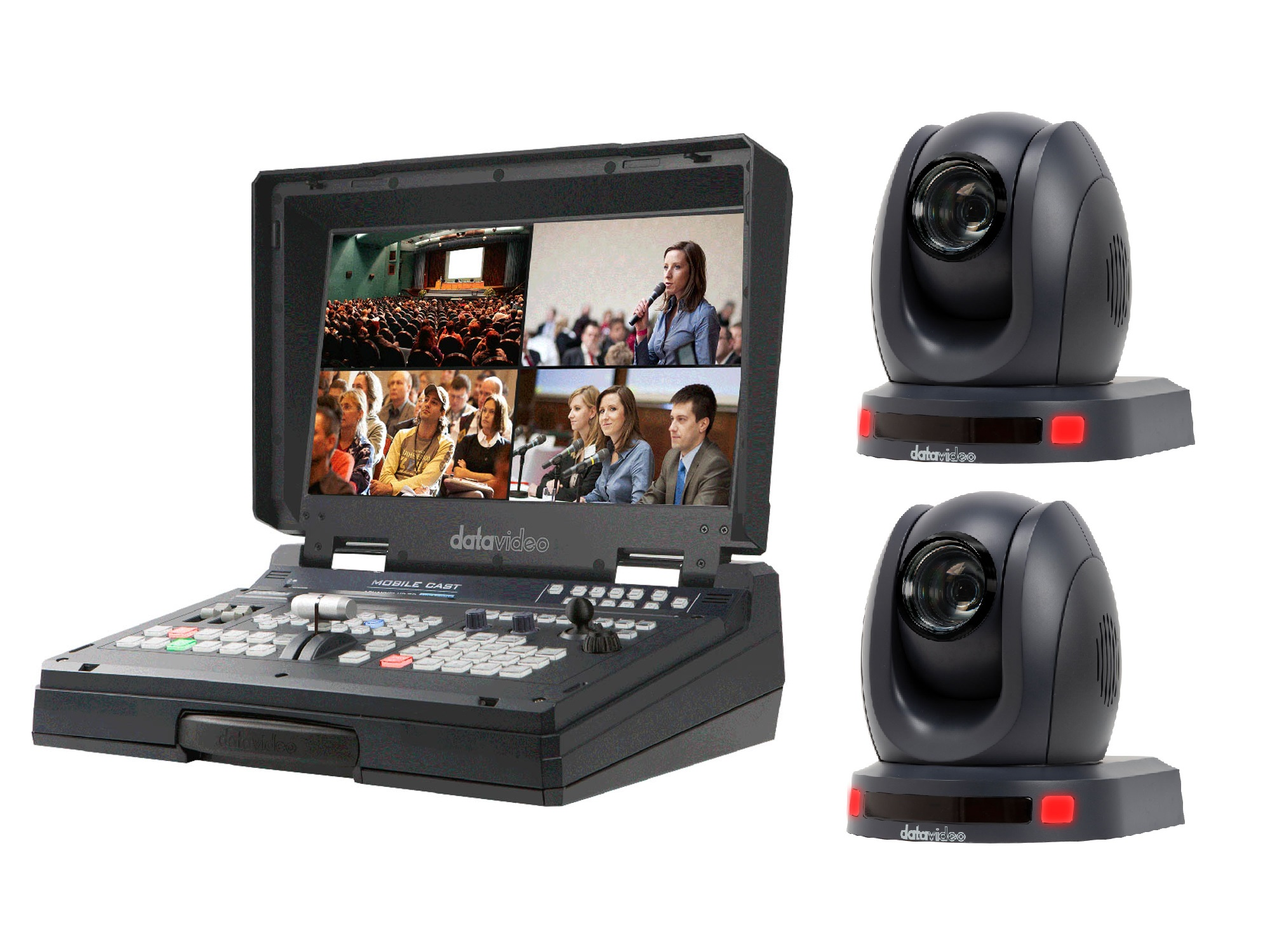 HS-1500T2CAM One Operator Production/Presentation Solutions Kit with 2 Cameras by Datavideo