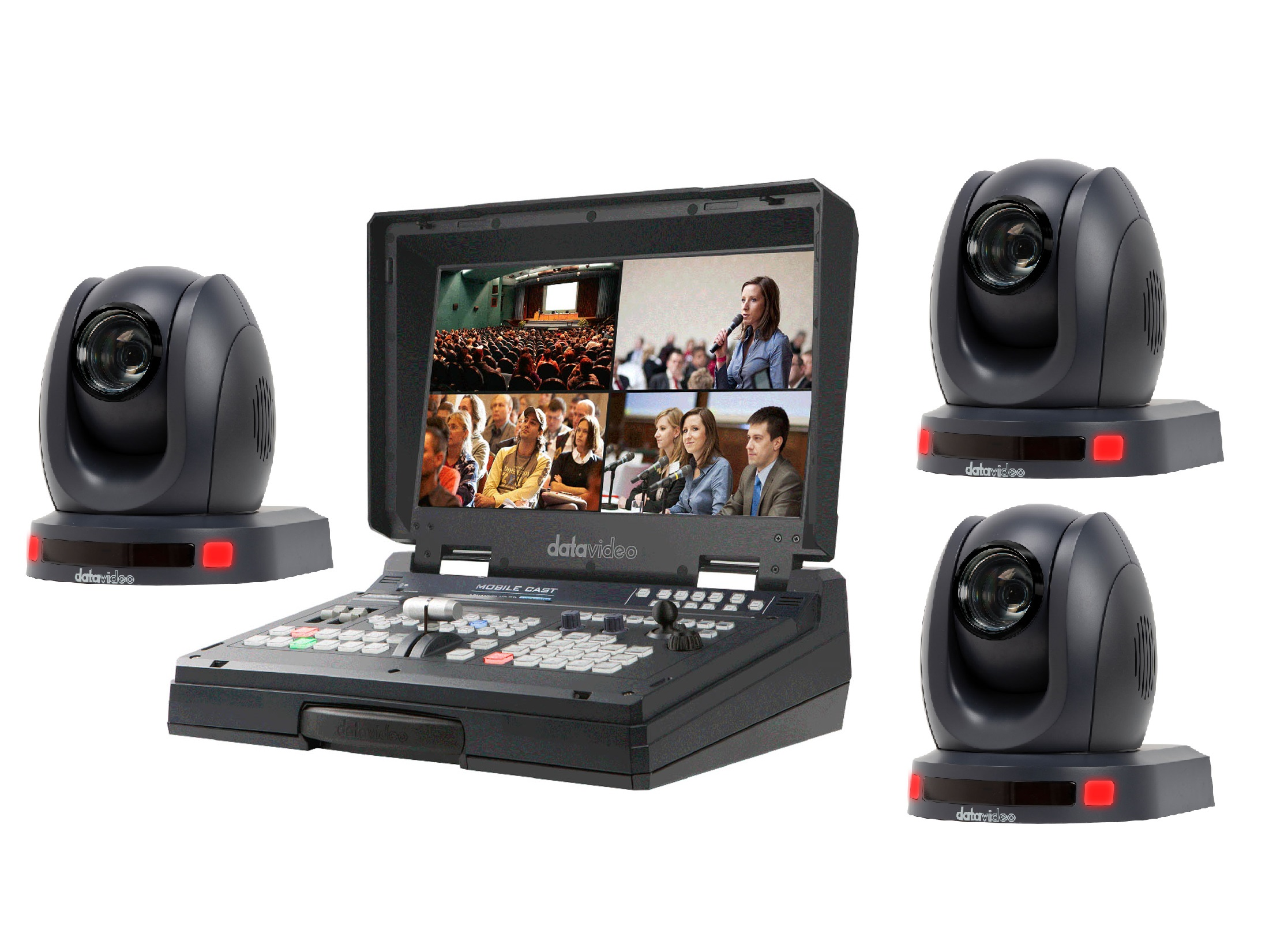 HS-1500T3CAM One Operator Production/Presentation Solutions Kit with 3 Cameras by Datavideo