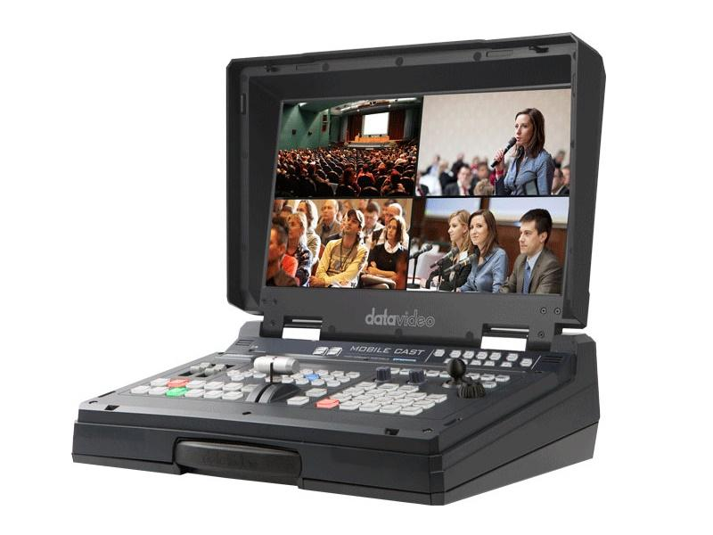 HS-1600T 4-Channel HD/SD HDBaseT Portable Video Streaming Studio by Datavideo