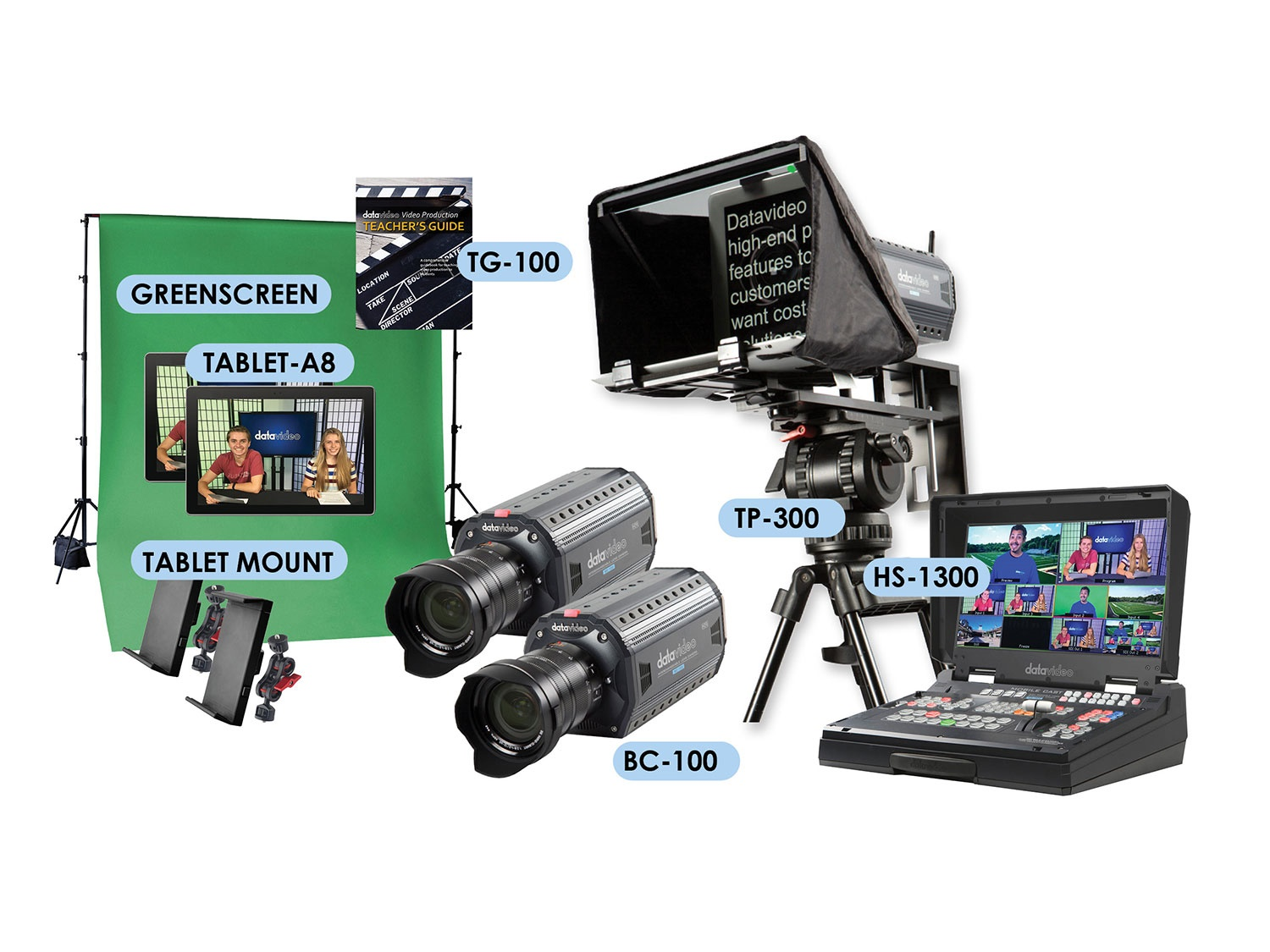 EPB-1300CK K-12 Two-Camera Chromakey Video Production Studio by Datavideo