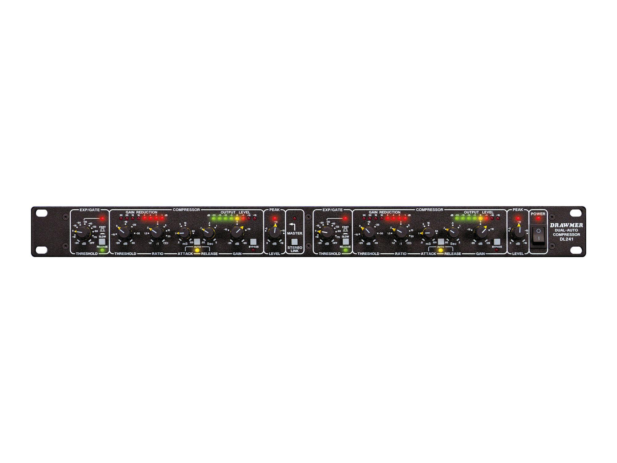 DL241 Dual Channel Auto Compressor with Gate/Limiter by Drawmer