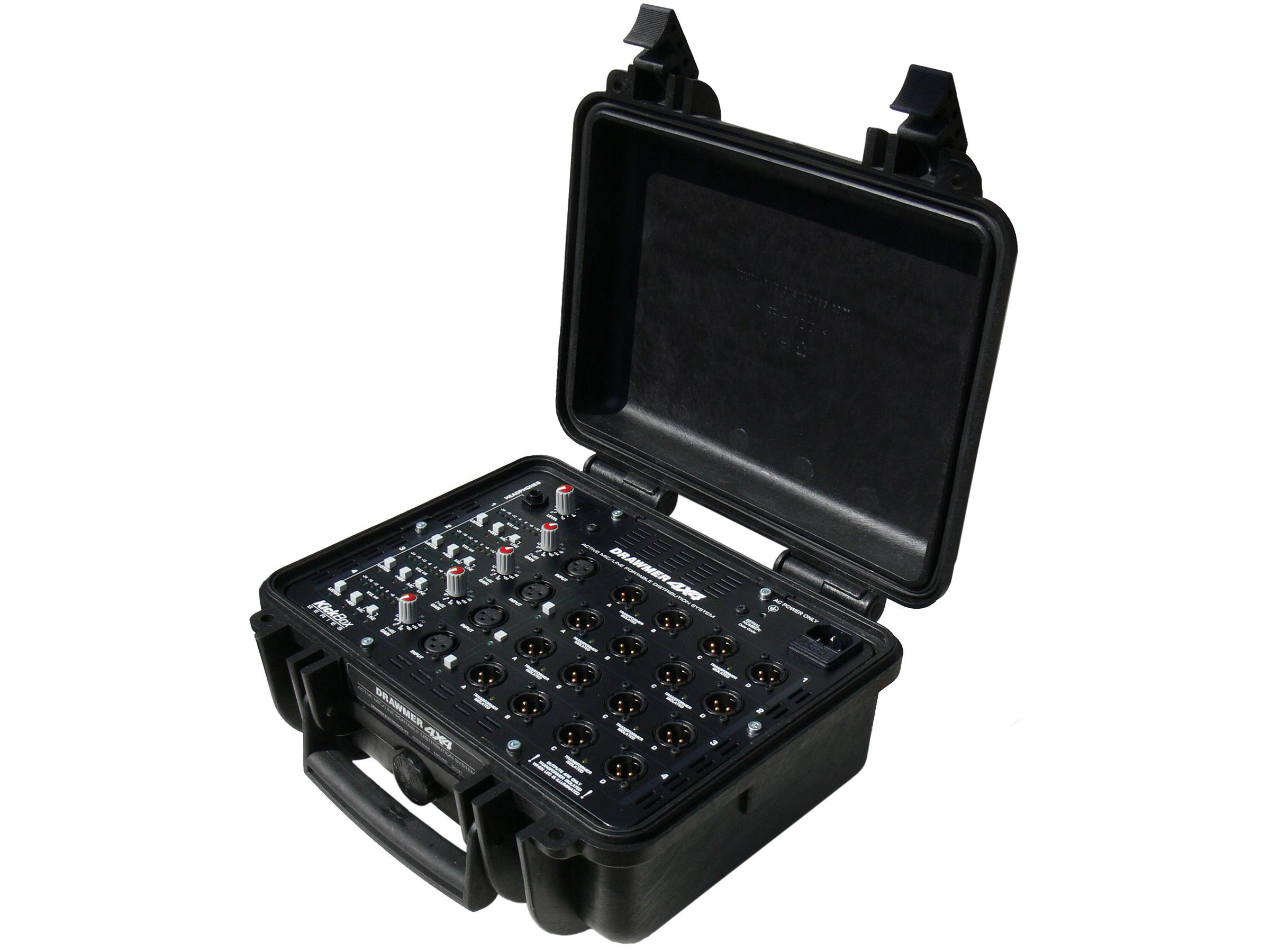 KICK BOX 4 In/16 Out Mic/Line Portable Active Splitter by Drawmer