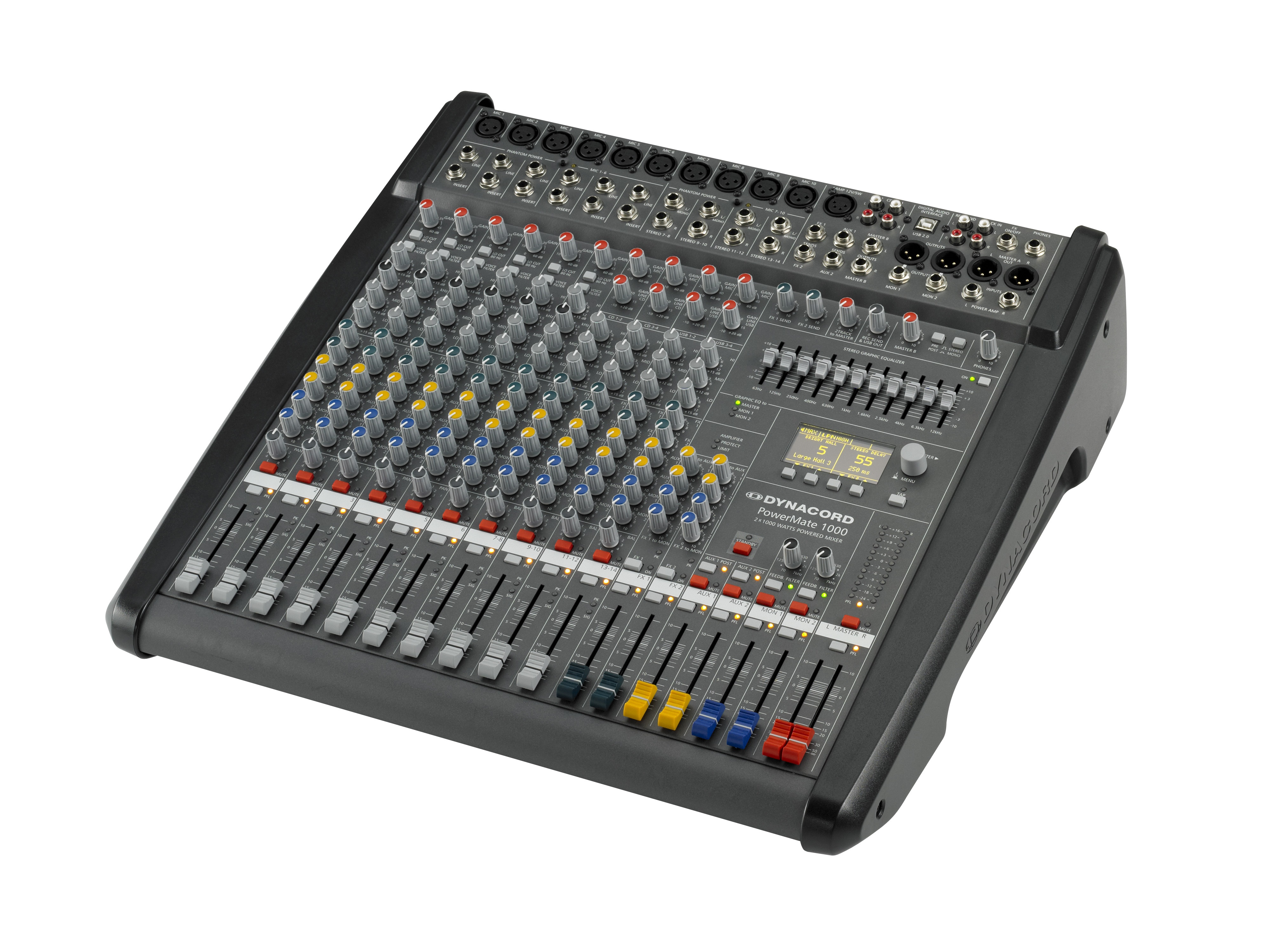 DC-PM1000-3-UNIV 10 Channel Powered Mixer (6 x Mic/Line/4 x Mic/Stereo-Line) by Dynacord