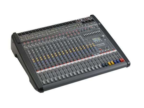 DC-PM1600-3-UNIV 16 Channel Powered Mixer (12 x Mic/Line/4 x Mic/Stereo-Line) by Dynacord