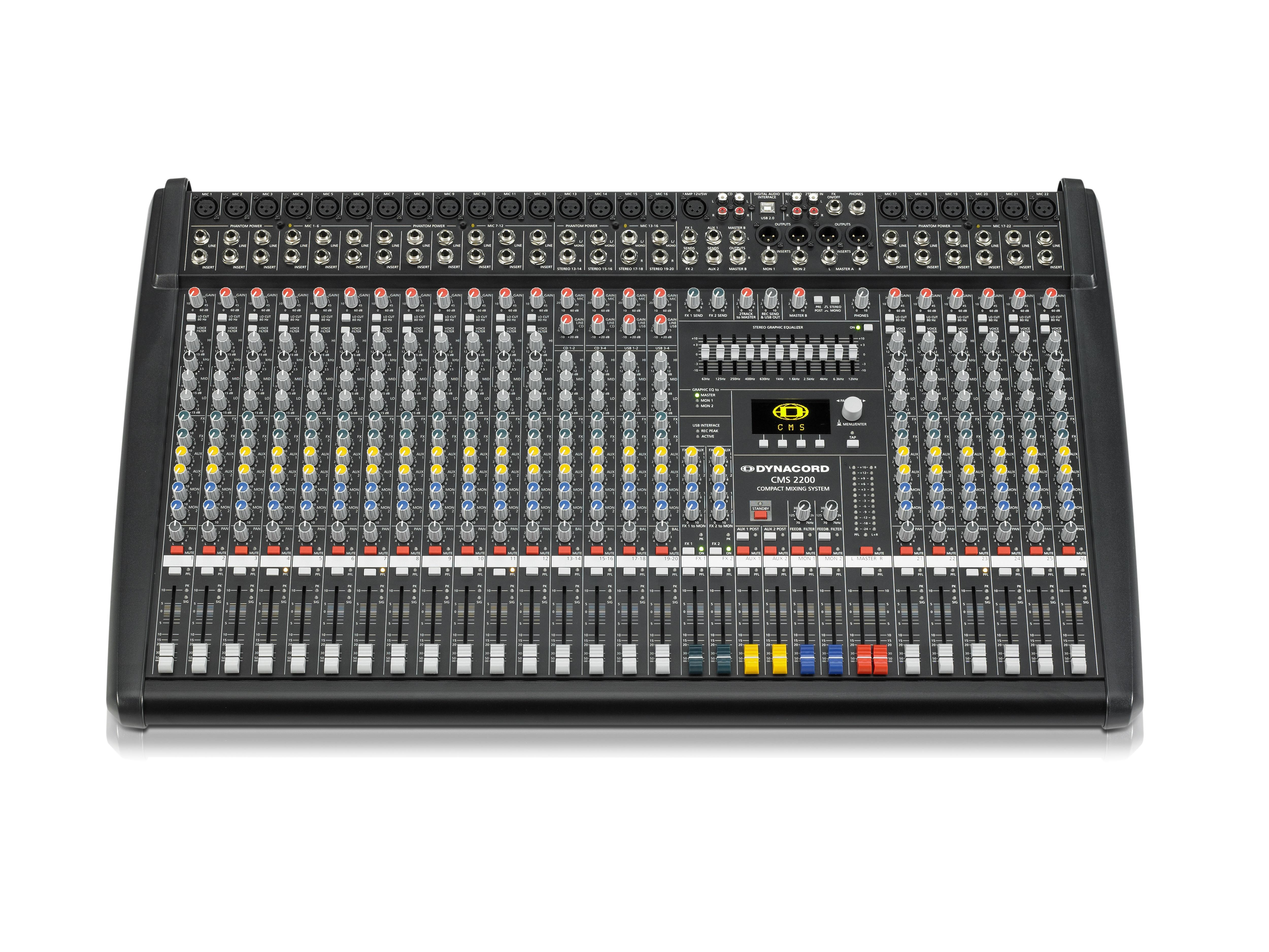DCCMS22003MIG 18 Mic/Line w 4 Mic/Stereo Line Channels/6 x AUX/Dual 24 bit Stereo Effects/USB-Audio Interface by Dynacord