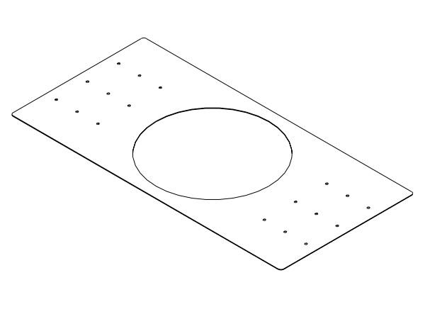 RPK42B Rough-In Mounting Plate for New Construction for Use with the EVID C4.2 (Package of 2) by Electro-Voice