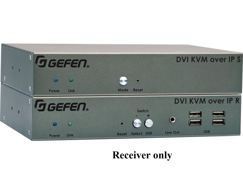 EXT-DVIKVM-LAN-LRX DVI KVM over IP Extender (Receiver) with Local DVI Output by Gefen