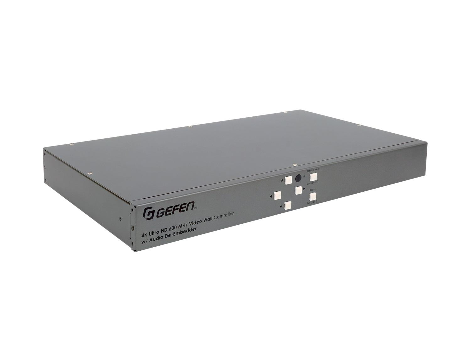 EXT-UHD600A-VWC-14 4K Ultra HD 600 MHz 1x4 Video Wall Controller with Audio De-Embedder by Gefen