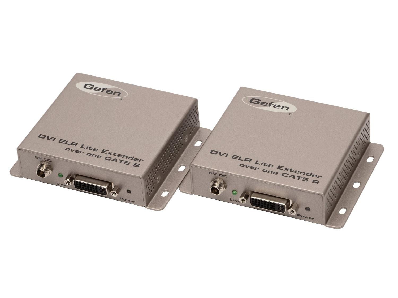 EXT-DVI-1CAT5-SR DVI ELR Lite Extender (ReceiverSender) Kit  over one CAT5 by Gefen