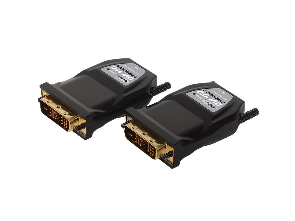 EXT-DVI-FM15 DVI Fiber Optic Extender(Receiver/Sender) Kit  (Dongle Modules) by Gefen