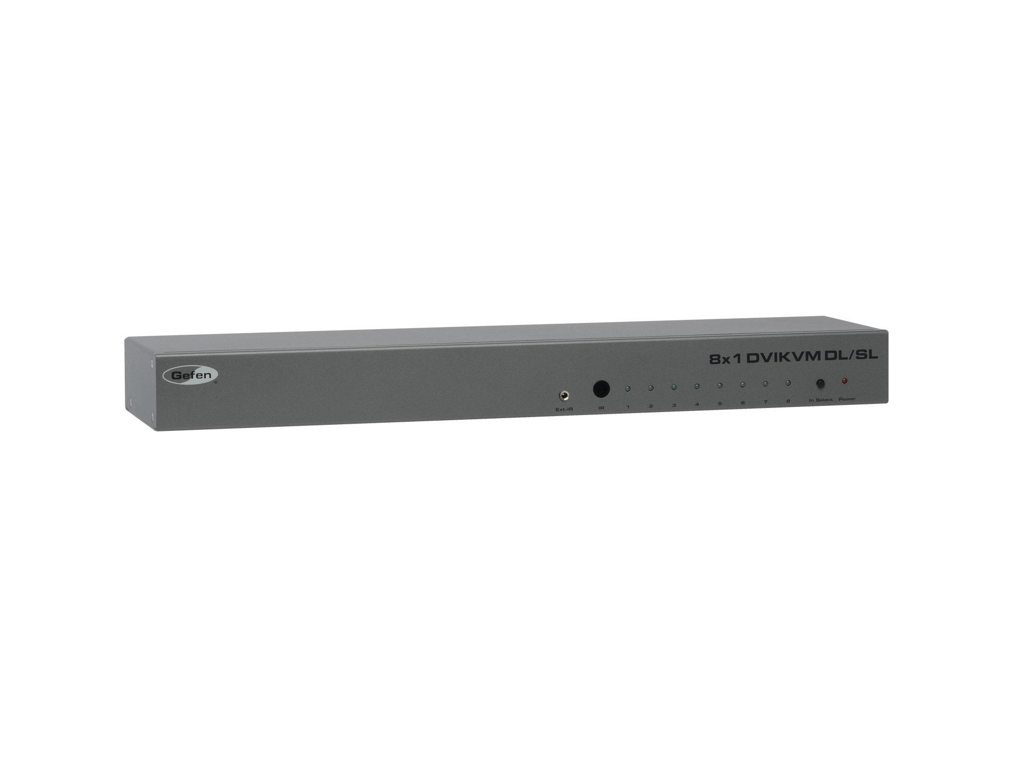 EXT-DVIKVM-841DL 8x1 DVI KVM DL Switcher (Pre-Order) by Gefen