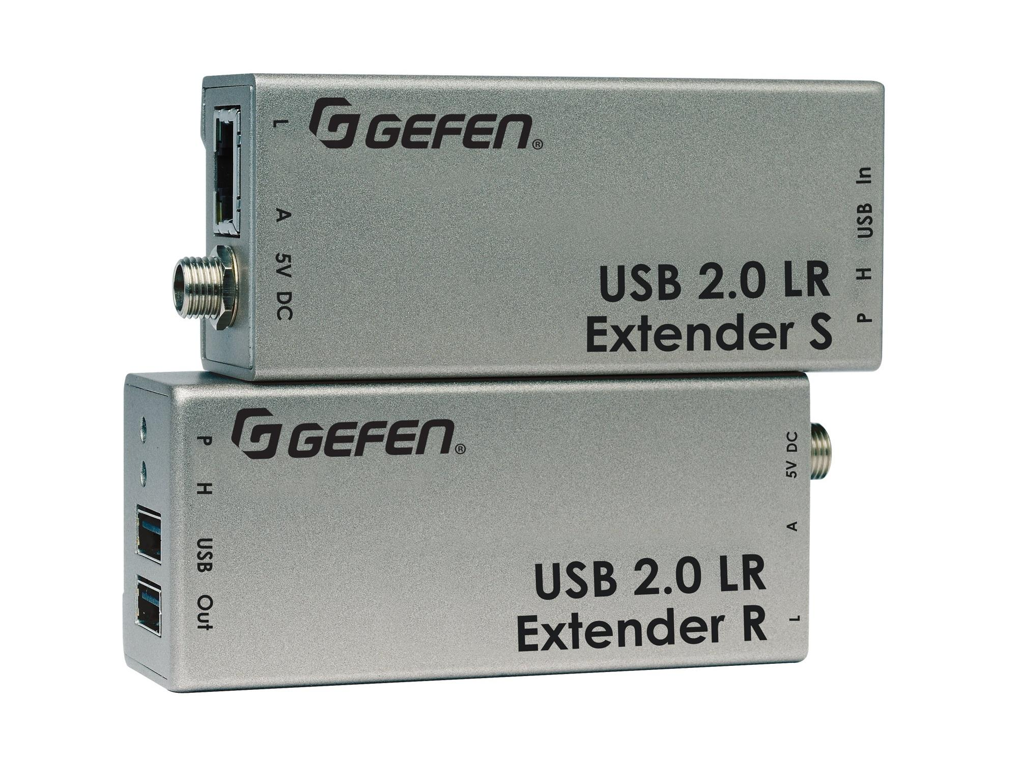 EXT-USB2.0-LR USB 2.0 Extender (Receiver/Sender) Kit by Gefen