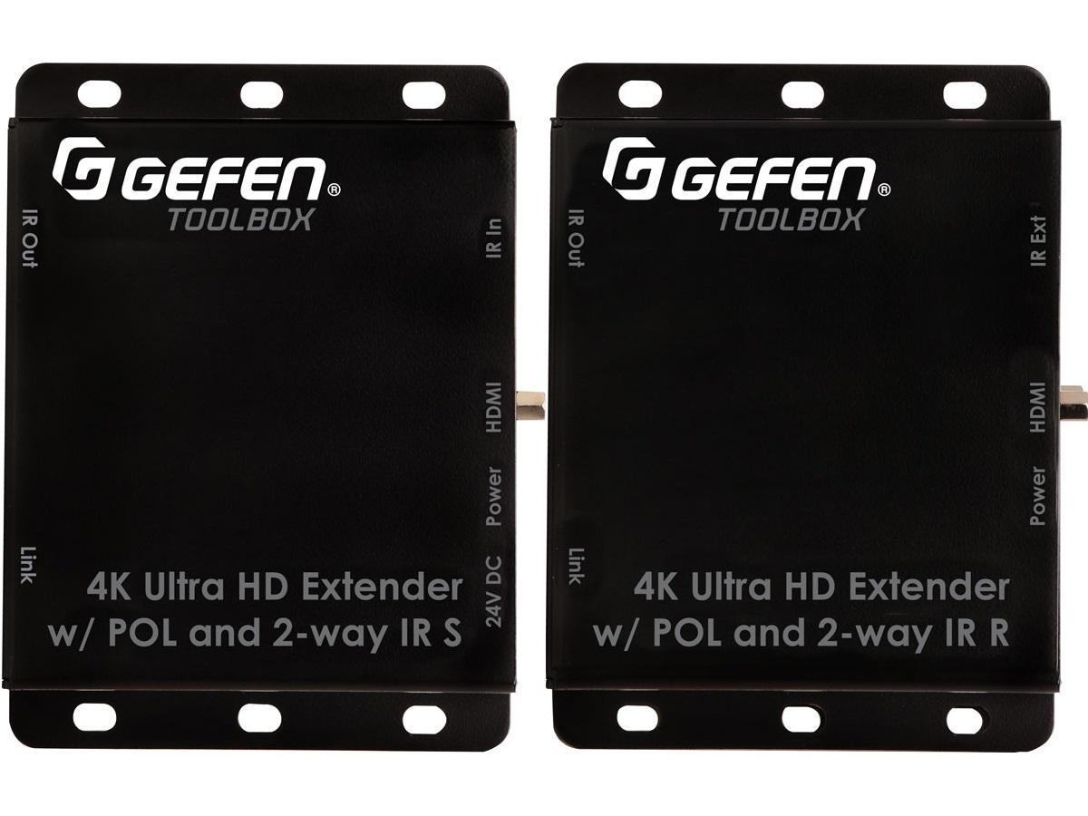 GTB-HDBT-POL-BLK Extender (Receiver/Sender) Kit for HDMI with POL - Black by Gefen