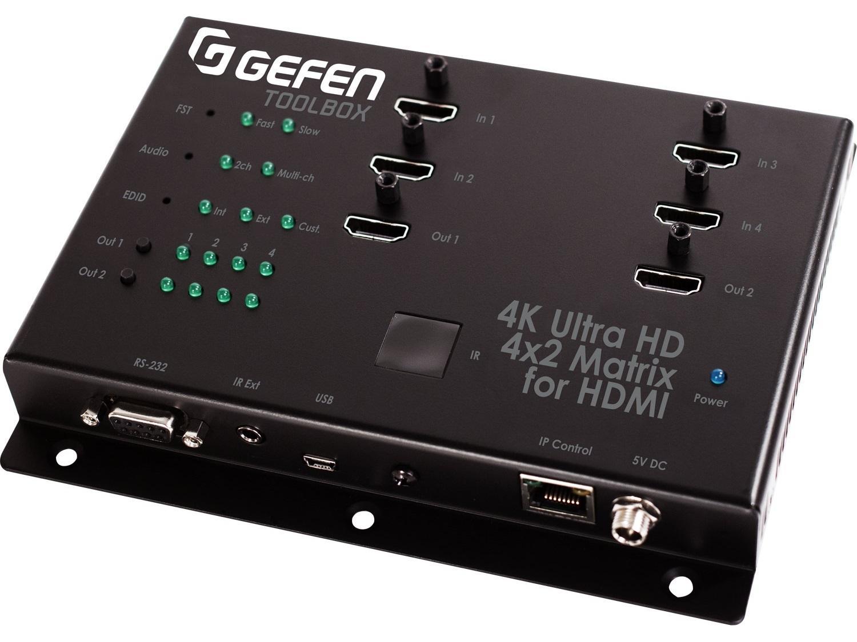 GTB-HD4K2K-442-BLK 4x2 Matrix Swither for HDMI 4Kx2K Black by Gefen
