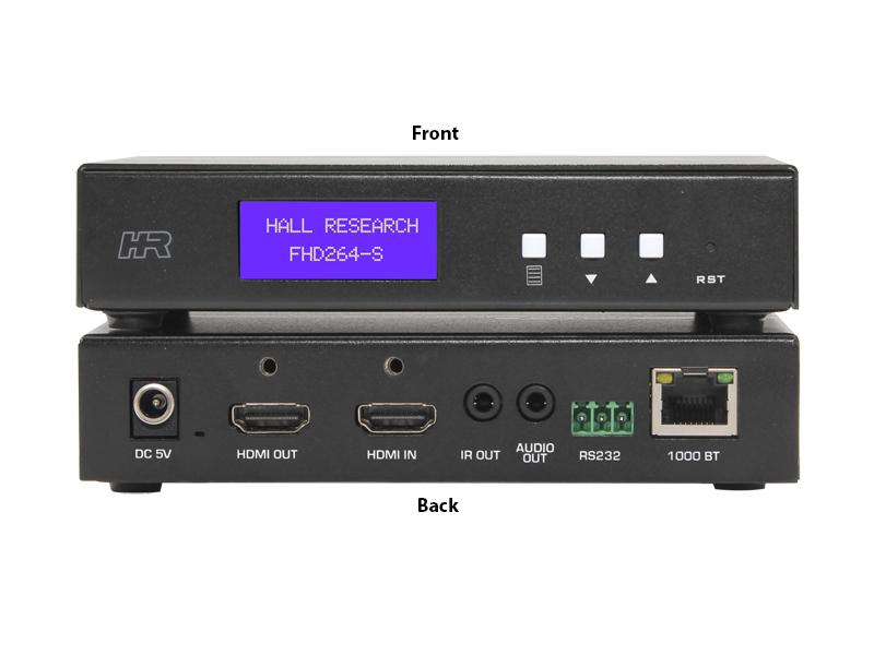 FHD264-S AV IP HDMI Extender (Transmitter) with Loop output/RS232/IR by Hall Research