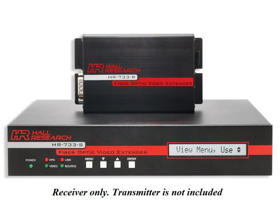 HR-733-R HDMI/DVI/VGA/Audio/RS232 Fiber Extender (Receiver) Switcher by Hall Research