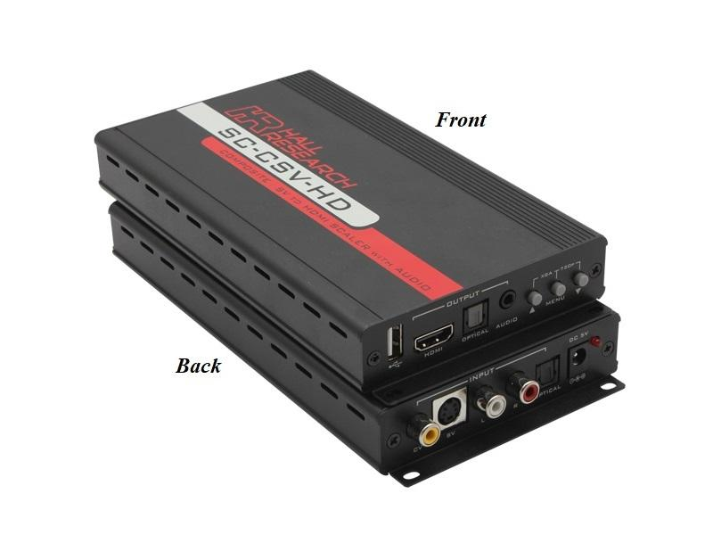 SC-CSV-HD Composite and S-Video to HDMI Video Processor by Hall Research