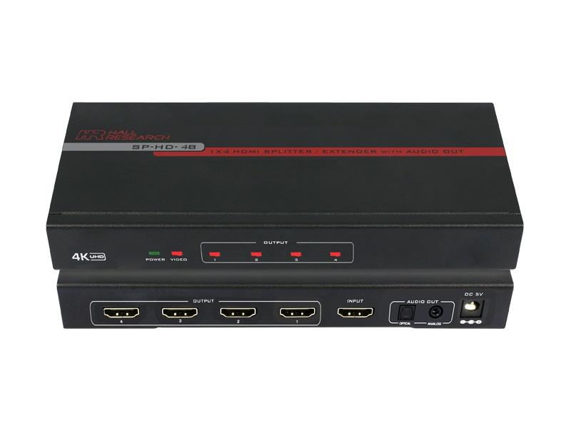 SP-HD-4B 1x4 HDMI Video Splitter with 4K UHD Support by Hall Research