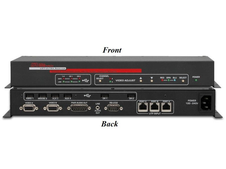 U97-ULTRA-2B-R Video/Audio/RS-232/USB Console Extender (Receiver) by Hall Research