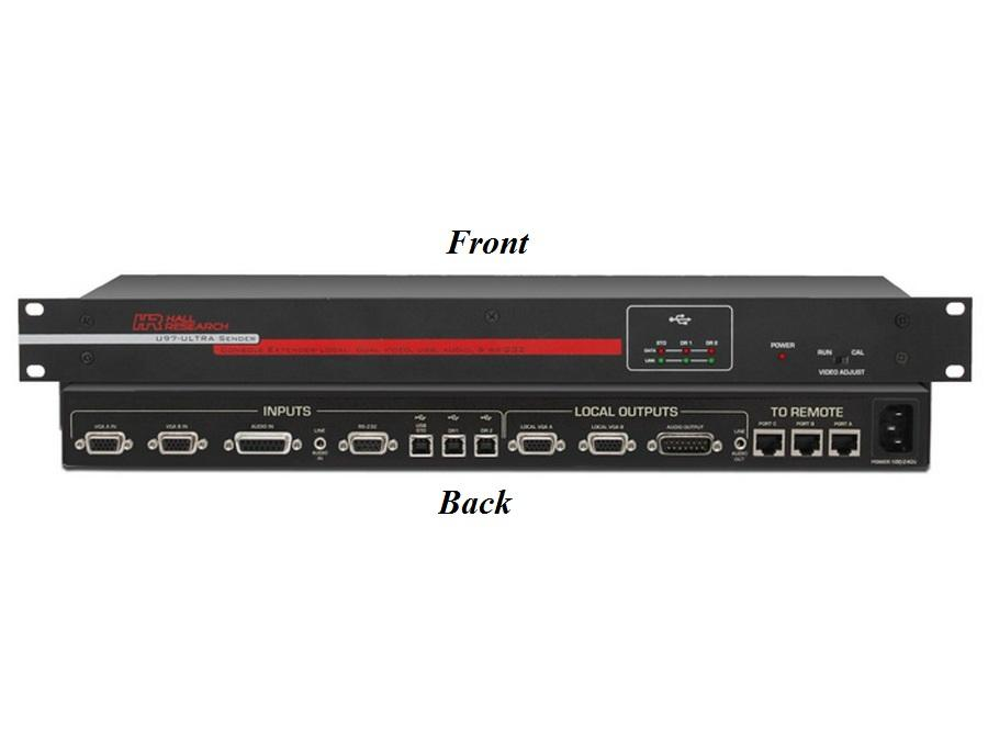 U97-ULTRA-2B-S Video/Audio/RS-232/USB Console Extender (Sender) by Hall Research