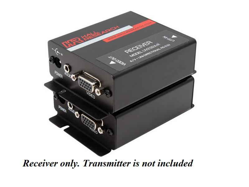 UV232A-R VGA/Audio and Uni-Directional RS232 Extender (Receiver) by Hall Research